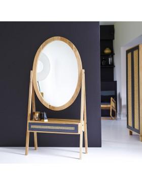Miroir psyché en manguier 160x77 Rafael