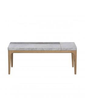 Table basse Stonepiet en chêne et marbre 111x48