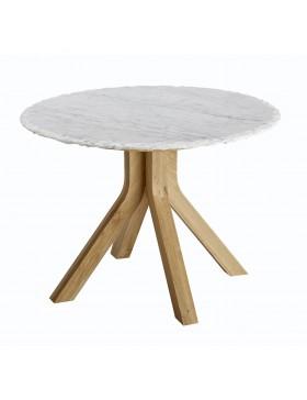 Table basse Stonecrumb en chêne et marbre 60