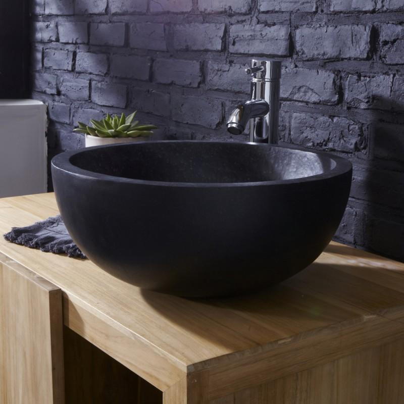 Vasque en terrazzo Isa black