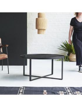 Table basse en marbre et métal 90 Milan