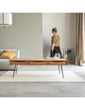 Table basse en teck 135x65 Simen