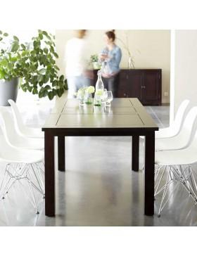 Table wengé 140x90 papillon Actuo Aka