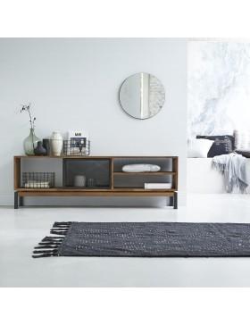 Meuble TV en teck et métal 170 Color Bebop black