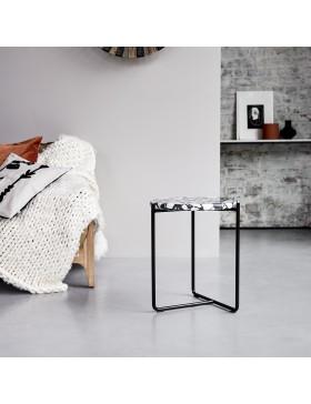 Bout de canapé en métal et pierres 40 Unik
