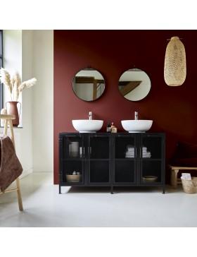 Meuble Salle de bain en métal et manguier 140 Romy