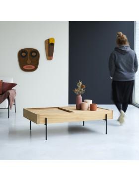 Table basse en teck 120x75 Honorine