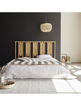 Tête de lit en rotin cannée 160 Paulette