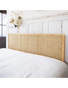 Tête de lit en rotin cannée 160 Adèle
