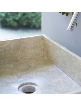 Vasque en marbre Scrula Slim Cream 50