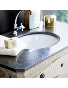 Meuble Salle de bain en pin et pierre 100 Emily