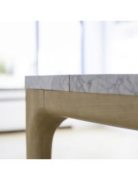 Table Stonepiet en chêne et marbre 201x101