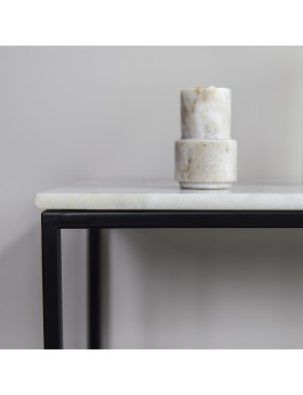 Console métal et marbre 120 Jana