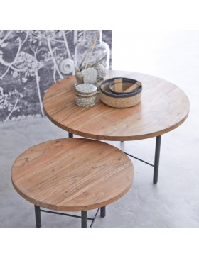 Tables gigognes en acacia Pavel