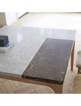 Table Stonepiet en chêne et marbre 131