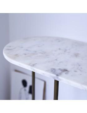 Console métal et marbre 120 Gustav
