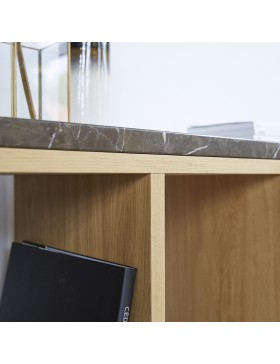 Console Eyota en chêne et marbre 131