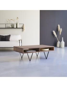 Table basse en noyer 115x70 Metric walnut