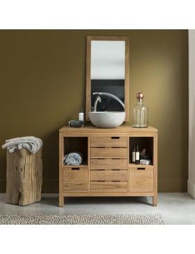 Meuble Salle de bain en teck massif 100 Serena
