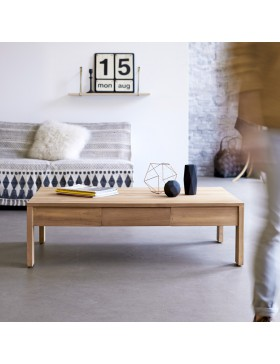 Table basse en teck massif 120x80 Eden