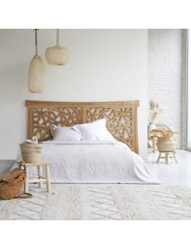 Tête de lit en teck massif 210 Gentong