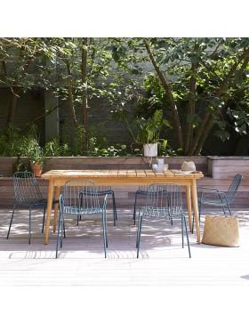 Table de jardin en teck massif 180 Vadim