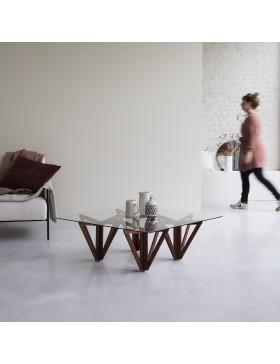 Table basse en teck massif 100x100 Mona