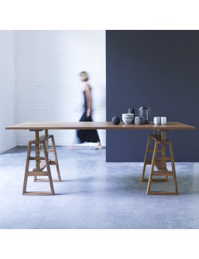 Table en teck massif 200x100 Trestle