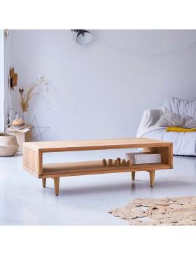 Table basse en teck massif 120x50 Jonàk