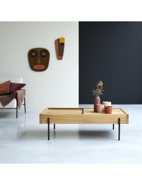 Table basse en teck massif 120x75 Honorine