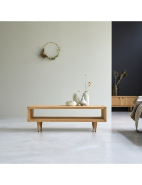 Table basse en chêne massif 120x50 Jonàk