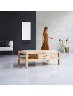 Table basse en chêne massif 110x60 Vertigo Oak