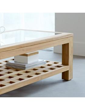 Table basse en teck massif 100x60 Kwad
