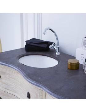 Meuble Salle de bain en pin massif et pierre 170 Hermione