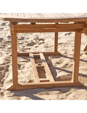 Salon de jardin en teck massif 180 Capri 6 chaises