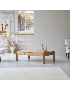 Table basse en chêne massif 120x80 Eden