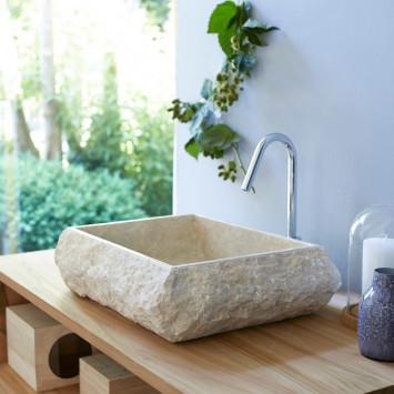 Vasque en marbre Scrula Slim cream