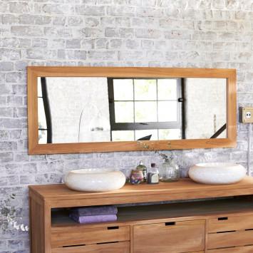 Miroir en teck Tona 160x60 cm