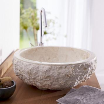 Vasque en marbre Scrula cream