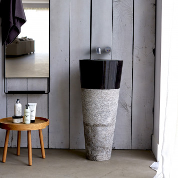 Vasque sur pied en marbre Koni