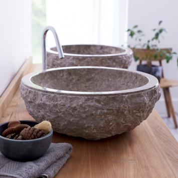 Vasque en marbre Scrula grey