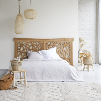 Tête de lit en teck massif 210 cm Gentong