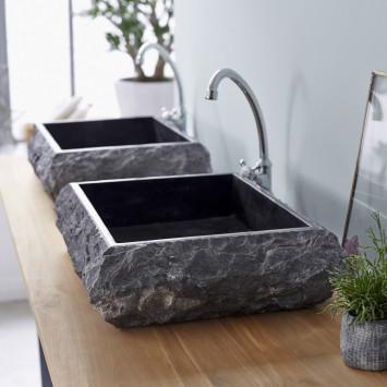 Vasque en marbre Scrula Slim black
