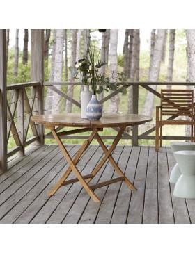Table de jardin pliable en teck massif 120 Andria