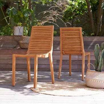 Chaise de jardin en teck massif Teo