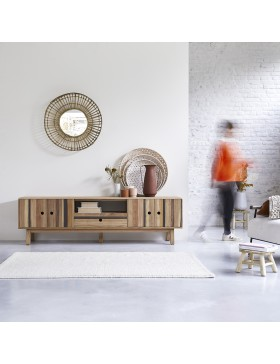 Meuble TV en bois recyclés Brooklyn 210 cm