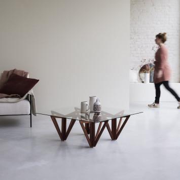 Table basse en teck massif Mona