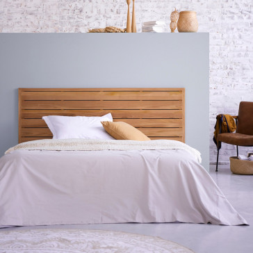 Tête de lit en teck massif 165 cm Minimalys