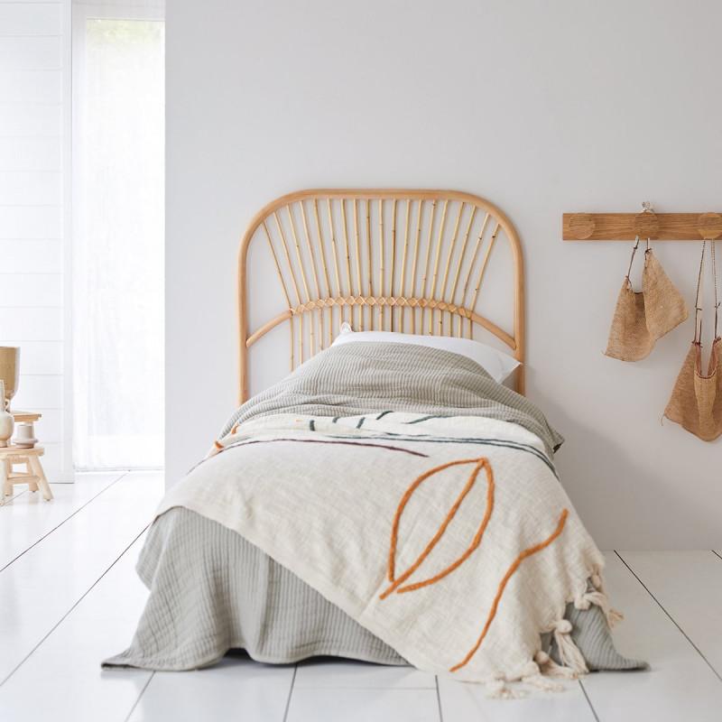 Tête de lit en rotin 90 cm Colette
