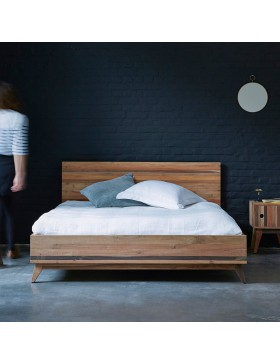 Lit en bois recyclés 170x210 cm Brooklyn